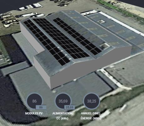 Commande et pose de 86 panneaux solaires aux Glaisins